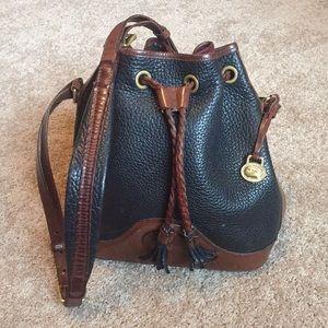 Dooney Bourke Vintage Mini Drawstring Bucket Bag